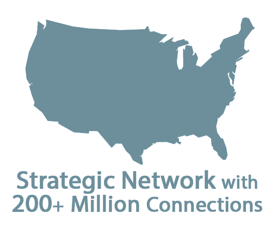 Strategic network with 200+ million connections